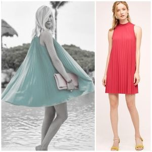 HTF NWT ANTHROPOLOGIE Seaglass Swing Pleated Dress